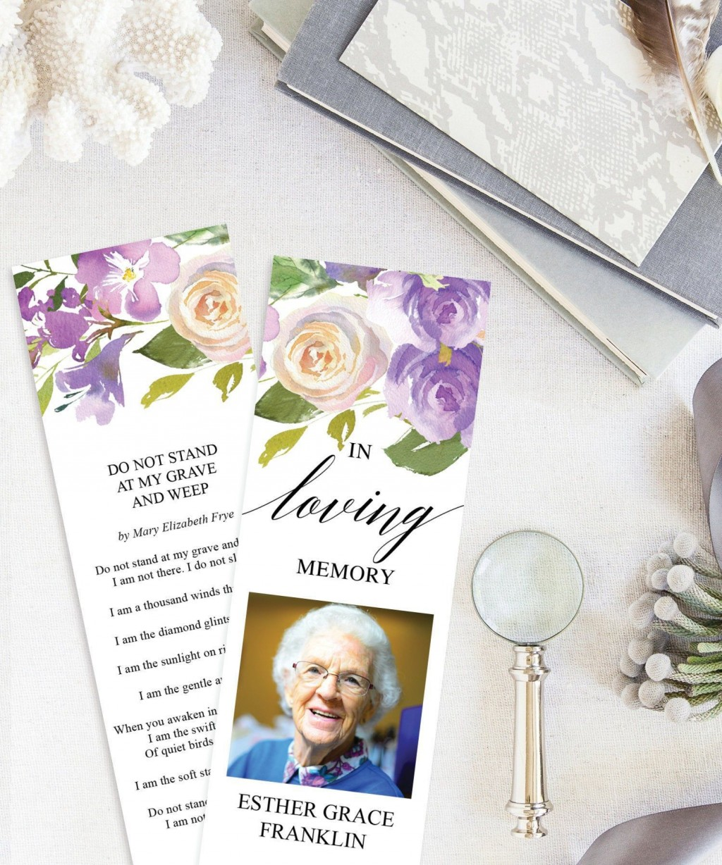 001 Breathtaking In Loving Memory Bookmark Template Free Download High Resolution Large