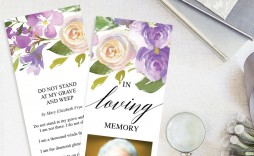 001 Breathtaking In Loving Memory Bookmark Template Free Download High Resolution