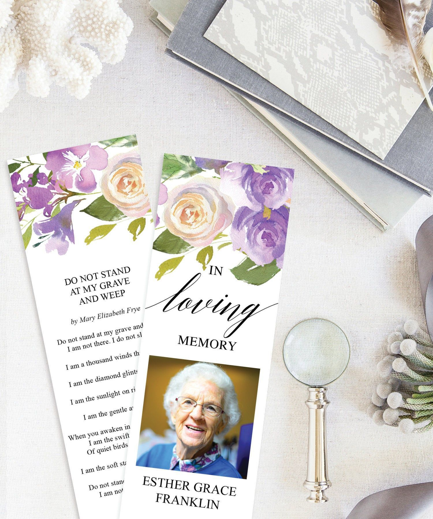 001 Breathtaking In Loving Memory Bookmark Template Free Download High Resolution Full