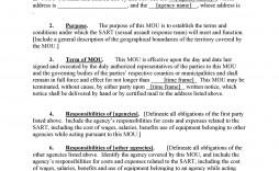 001 Breathtaking Letter Of Understanding Format Concept  Sample Memorandum
