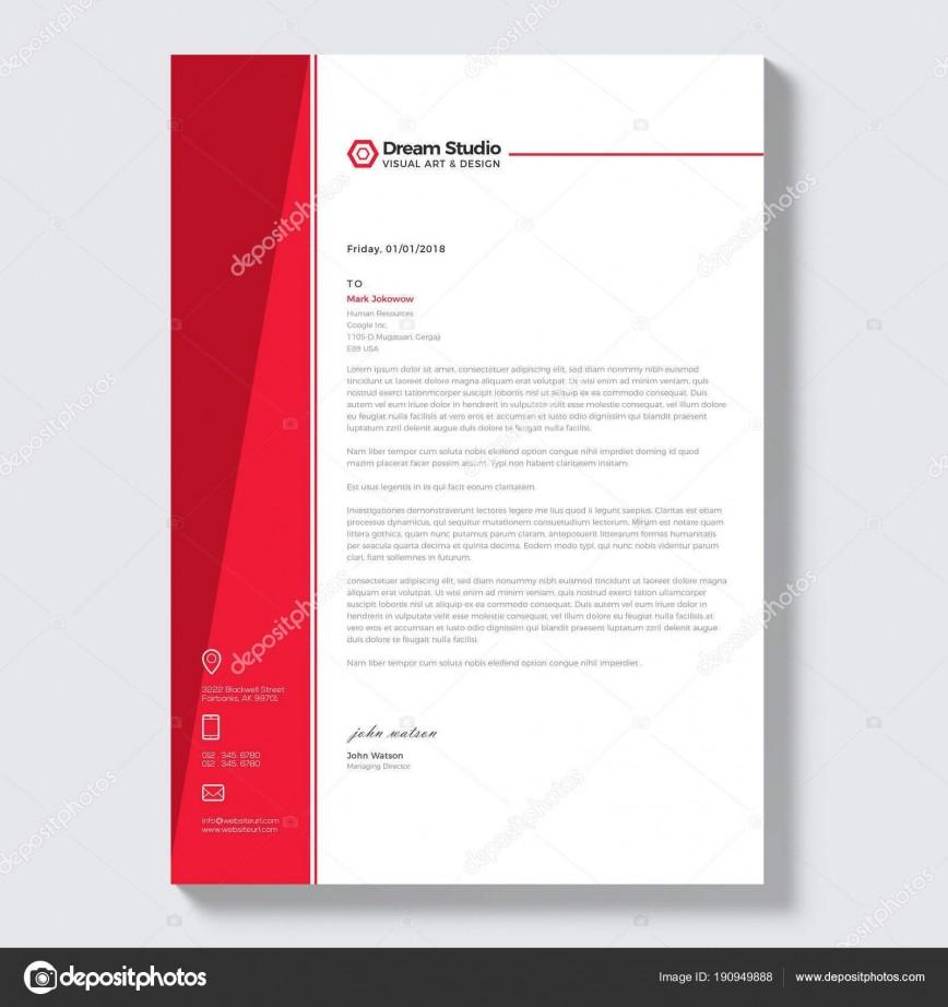 001 Breathtaking Letterhead Template Free Download Ai Concept  File