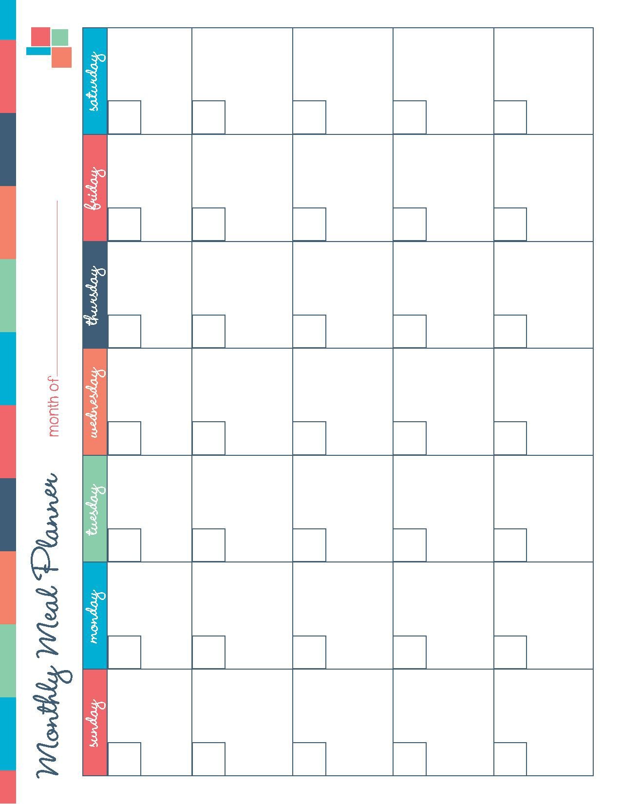 001 Breathtaking Meal Plan Calendar Template Highest Clarity  Excel Weekly 30 DayFull