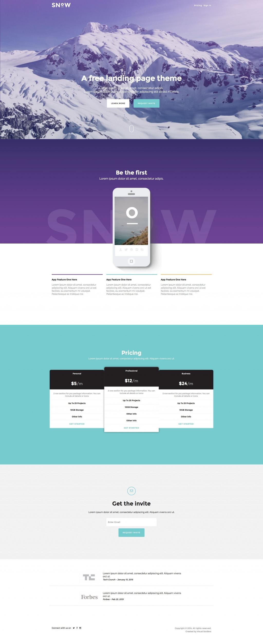 001 Breathtaking One Page Website Template Free Download Bootstrap Inspiration Large