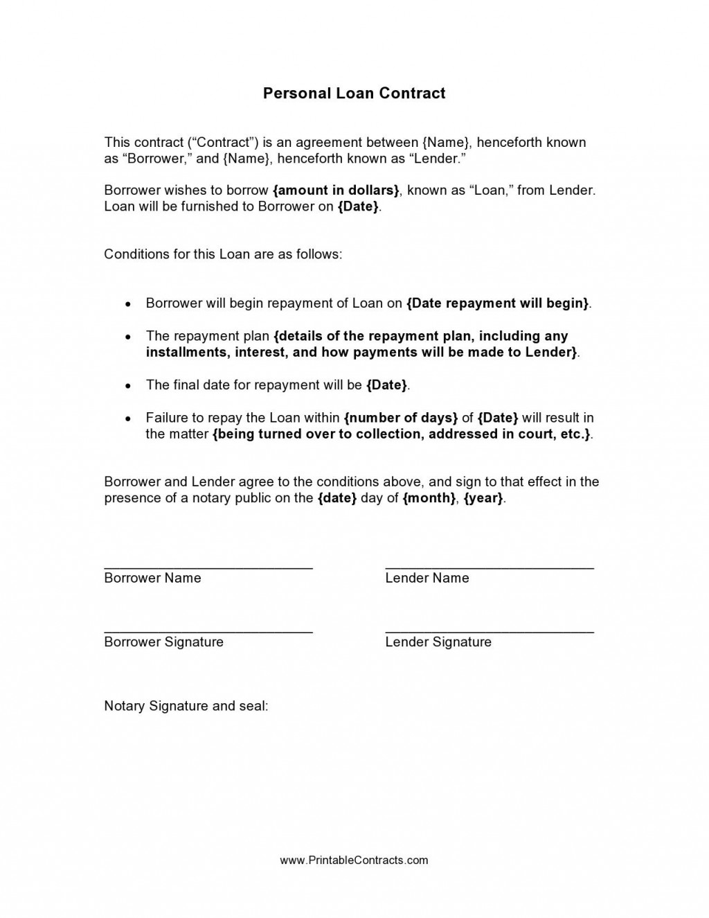 001 Breathtaking Simple Family Loan Agreement Template Australia Picture Large