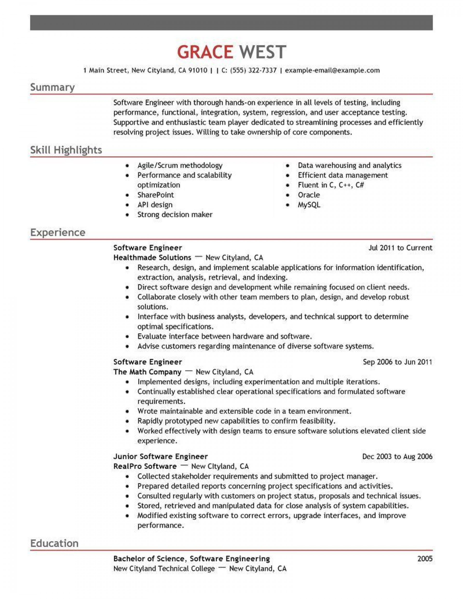 001 Breathtaking Software Engineer Resume Template High Resolution  Word Format Free Download Microsoft1920