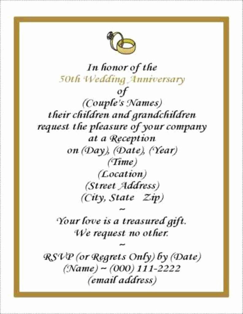 001 Dreaded 50th Anniversary Invitation Template Free High Resolution  For Word Golden Wedding DownloadFull