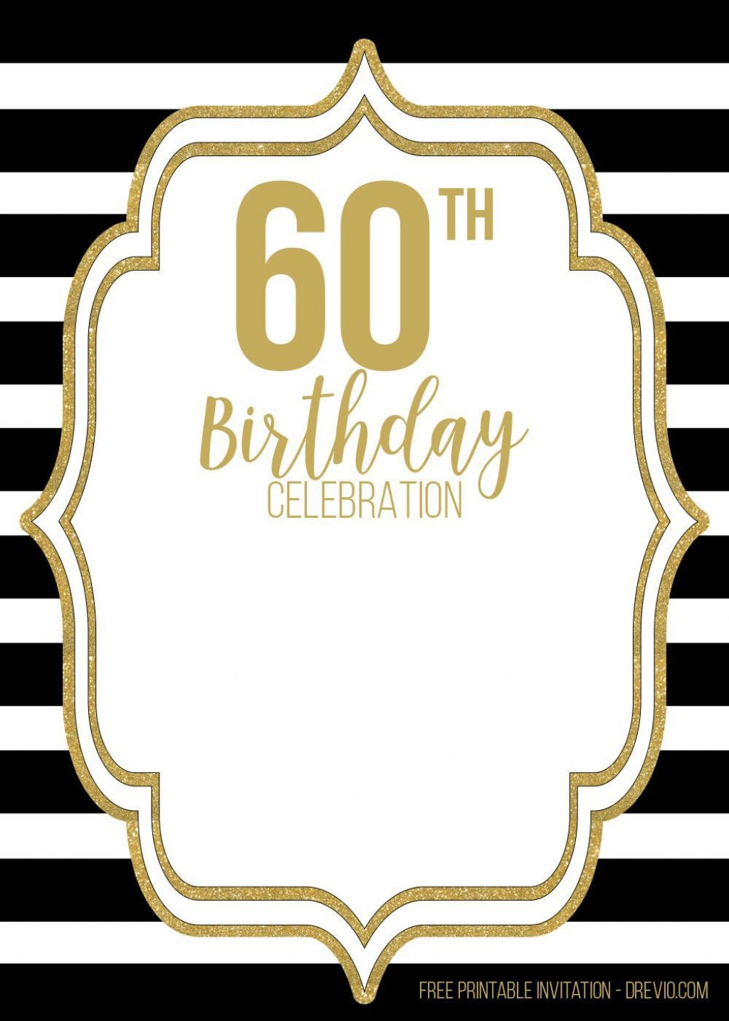 001 Dreaded 60th Birthday Invitation Template Highest Quality  Card Free DownloadLarge