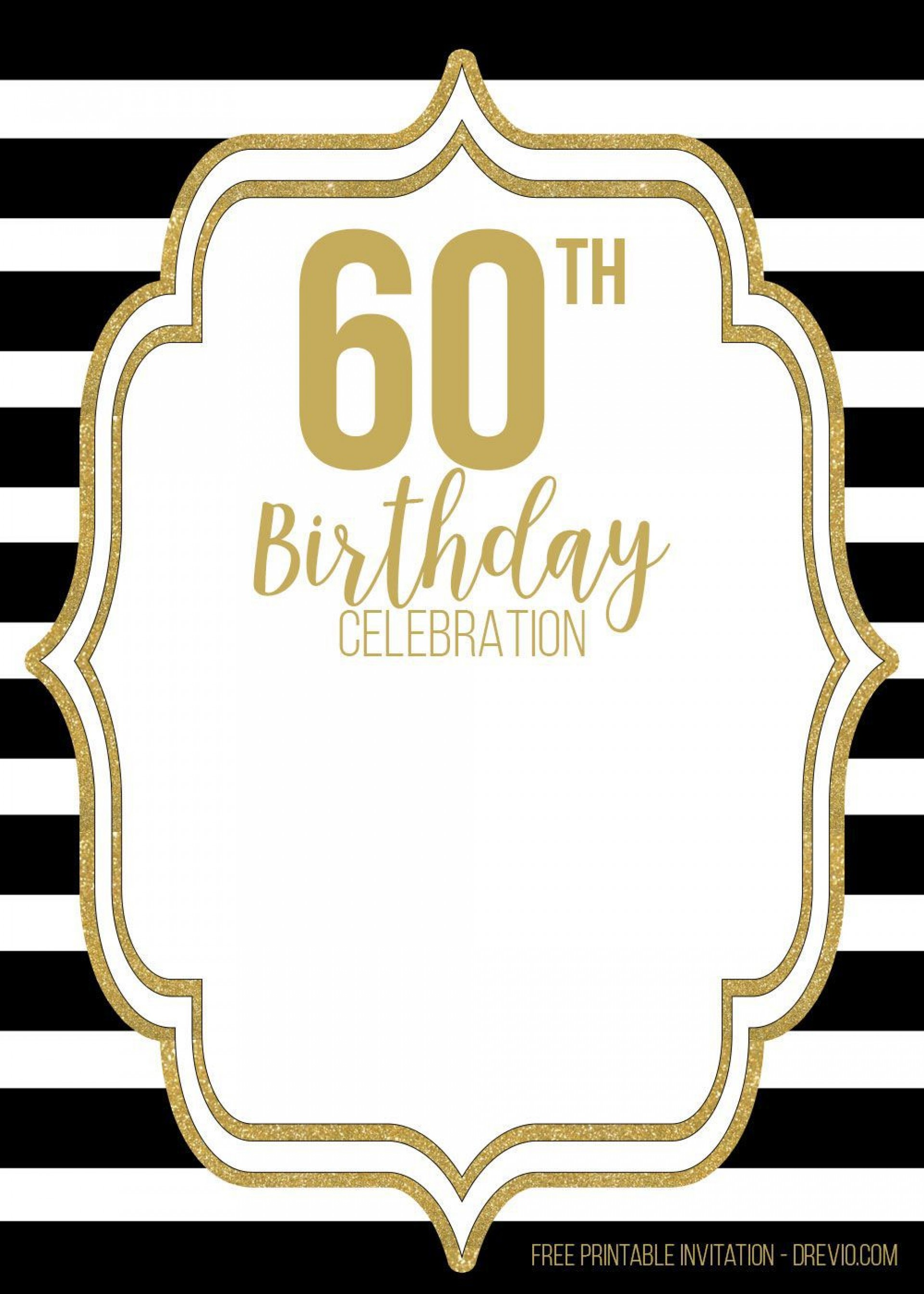 001 Dreaded 60th Birthday Invitation Template Highest Quality  Card Free Download1920