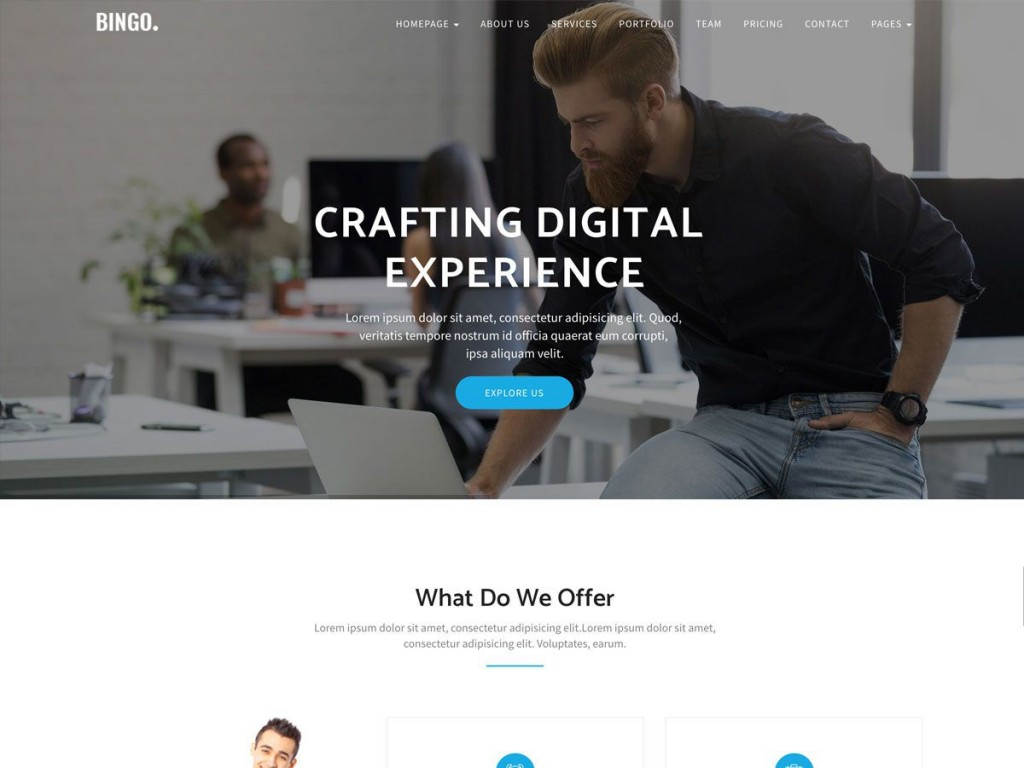 001 Dreaded Bootstrap Responsive Professional Website Template Free Download Inspiration Large