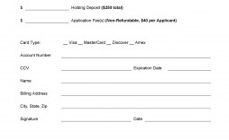 001 Dreaded Credit Card Form Template Excel Image  Authorization Payment