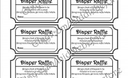 001 Dreaded Diaper Raffle Ticket Template High Resolution  Boy Free Printable Print Black And White