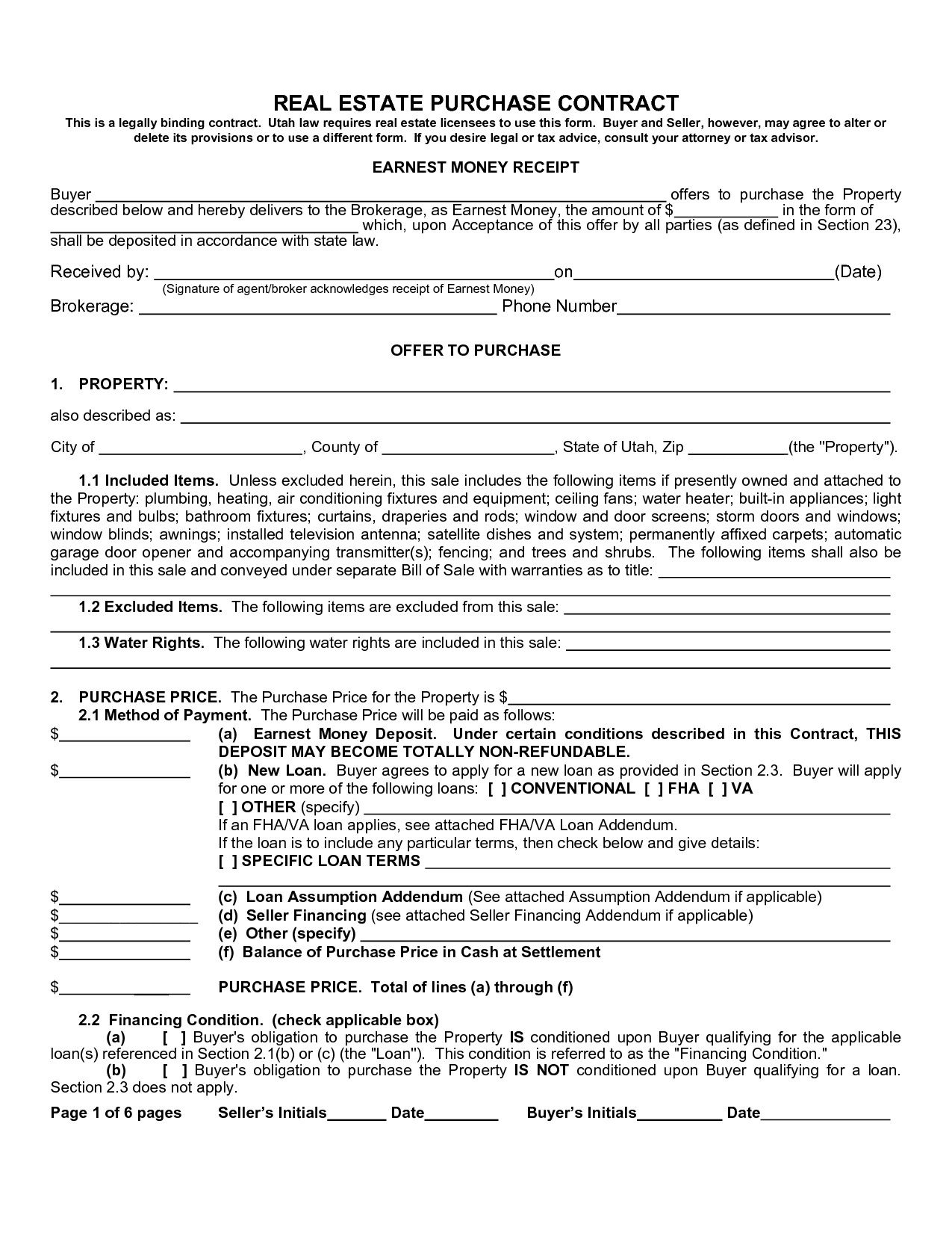 001 Dreaded Free Home Purchase Contract Template High Resolution Full