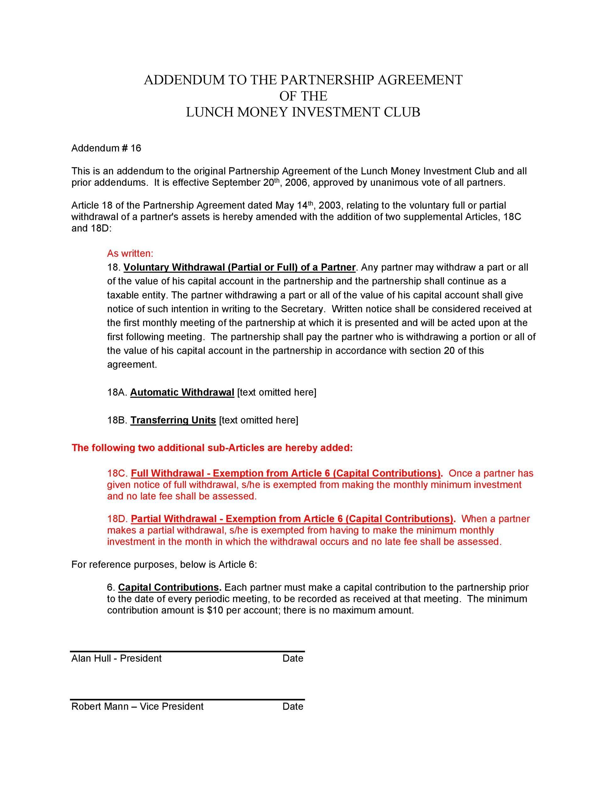 001 Dreaded Free Partnership Agreement Template Sample  Uk Malaysia LlpFull