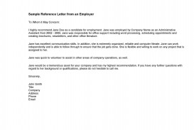 001 Dreaded Free Reference Letter Template From Employer Highest Quality  For Employment Word