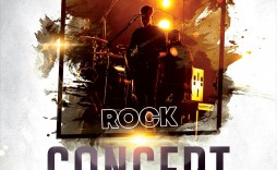001 Dreaded Free Rock Concert Poster Template Psd High Definition