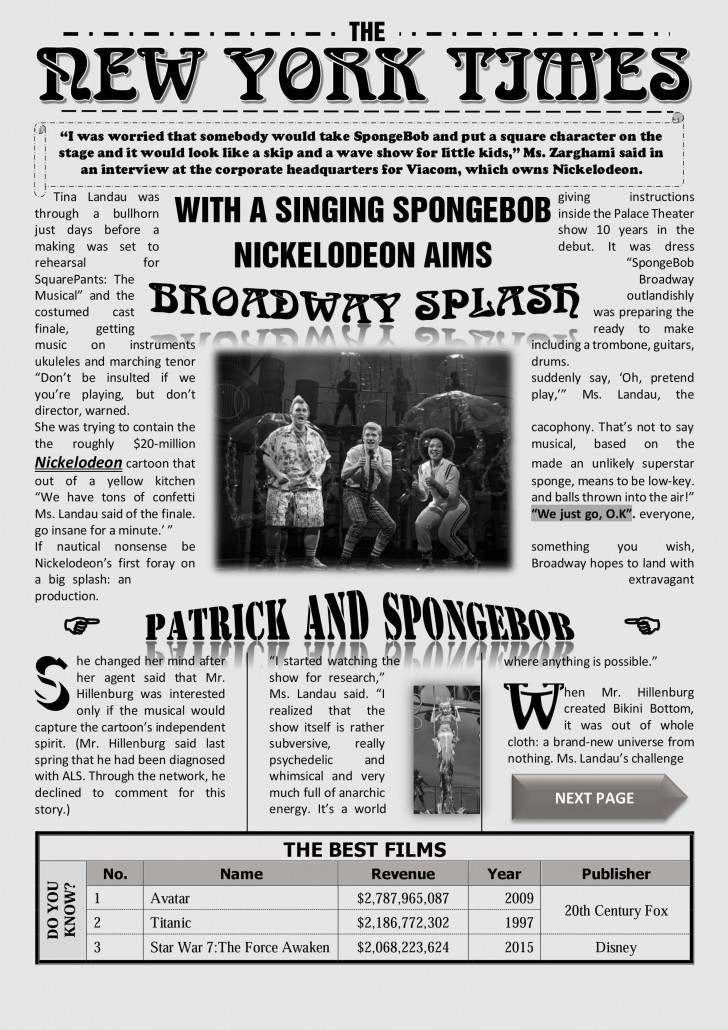 001 Dreaded Microsoft Word Newspaper Template Sample  Vintage Old Fashioned728