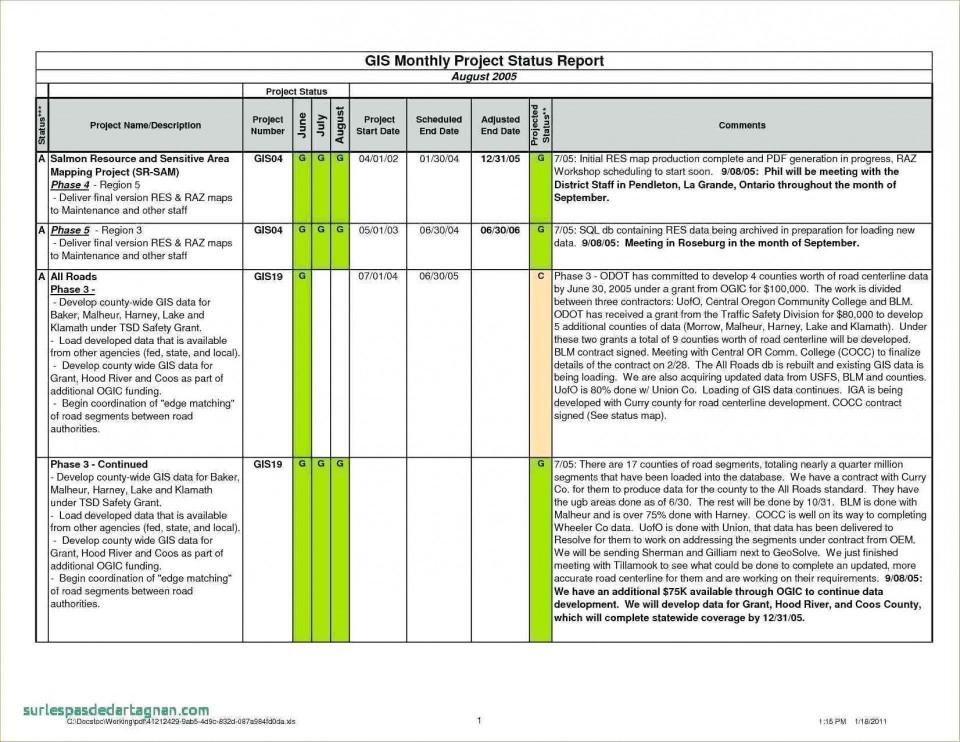 001 Dreaded Project Management Statu Report Template Excel Highest Clarity  Progres Update960