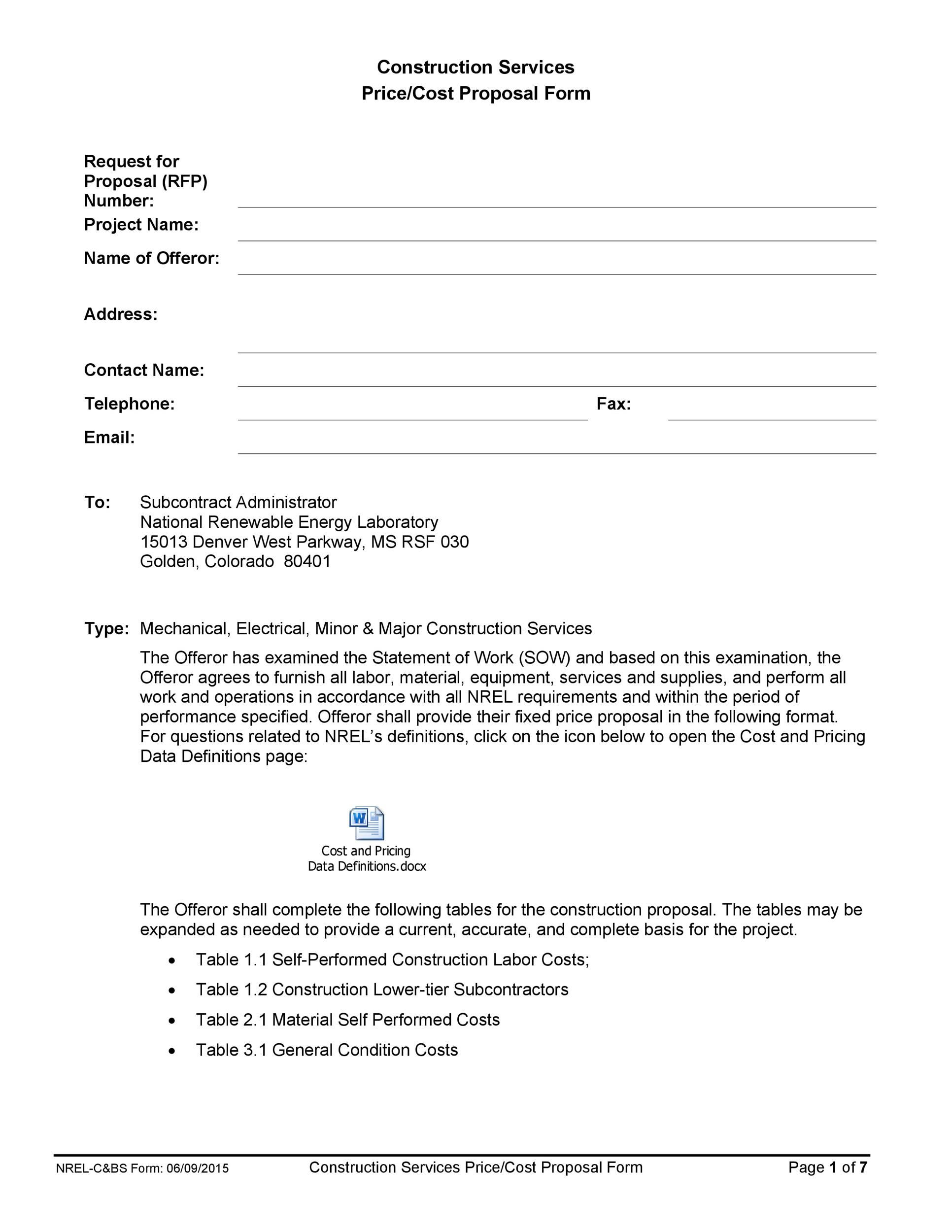 001 Dreaded Request For Proposal Template Construction Image  Rfp ResidentialFull
