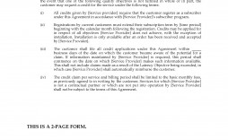 001 Dreaded Service Level Agreement Template Example  South Africa Nz For Website Development