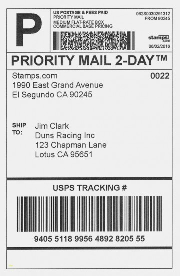 001 Dreaded Shipping Label Template Word 2016 Example 360