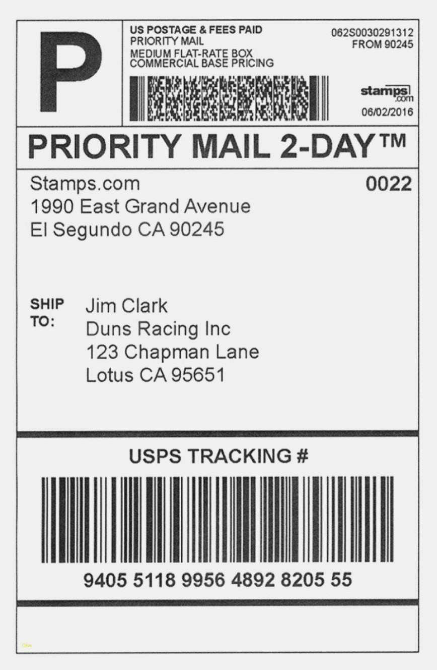 001 Dreaded Shipping Label Template Word 2016 Example 868