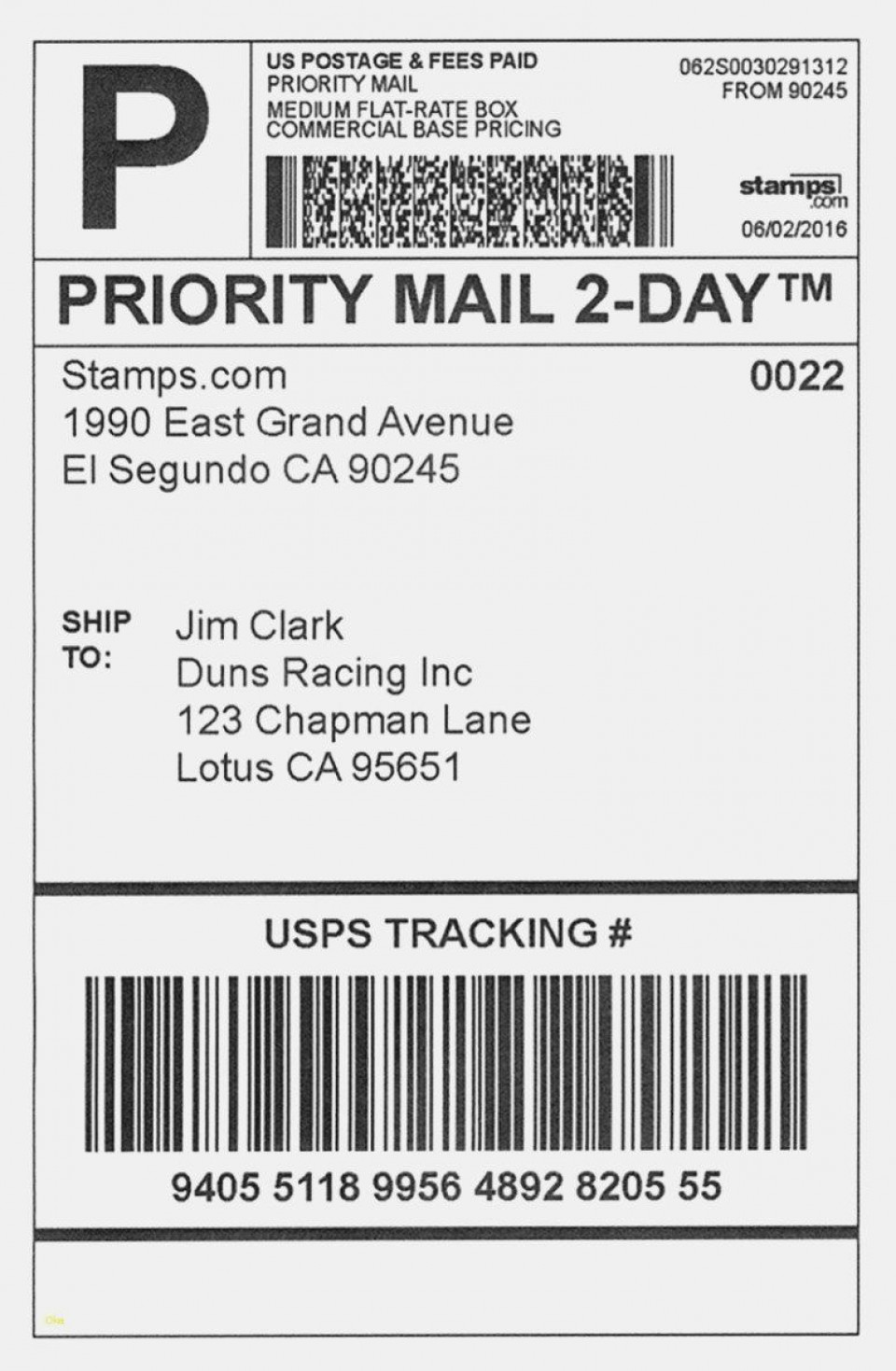 001 Dreaded Shipping Label Template Word 2016 Example 960