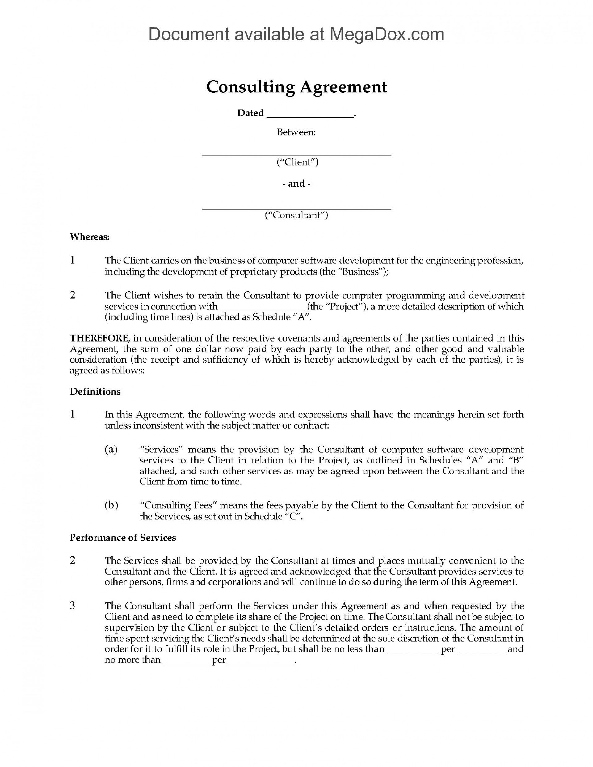 001 Dreaded Simple Consulting Agreement Template Example  Free Uk Pdf1920