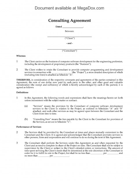 001 Dreaded Simple Consulting Agreement Template Example  Service Uk Free480