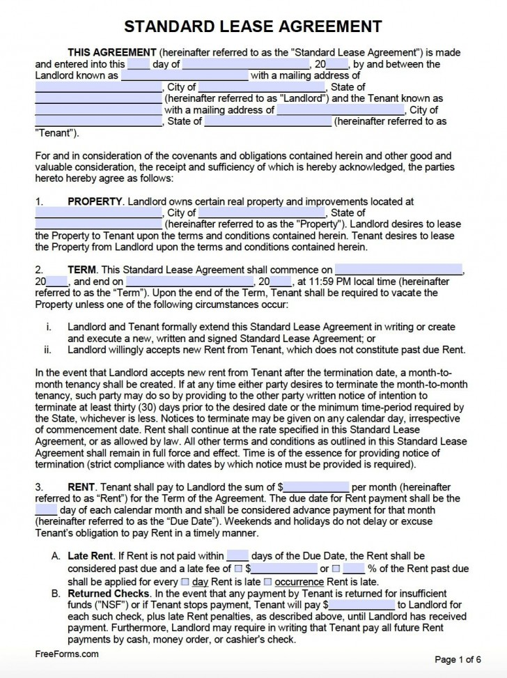 001 Dreaded Template For Renter Lease Agreement Photo  Free Apartment728