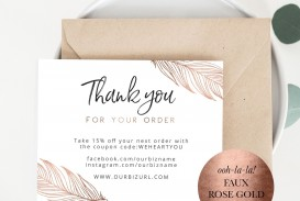 001 Dreaded Thank You Card Template High Resolution  Wedding Busines Word Free