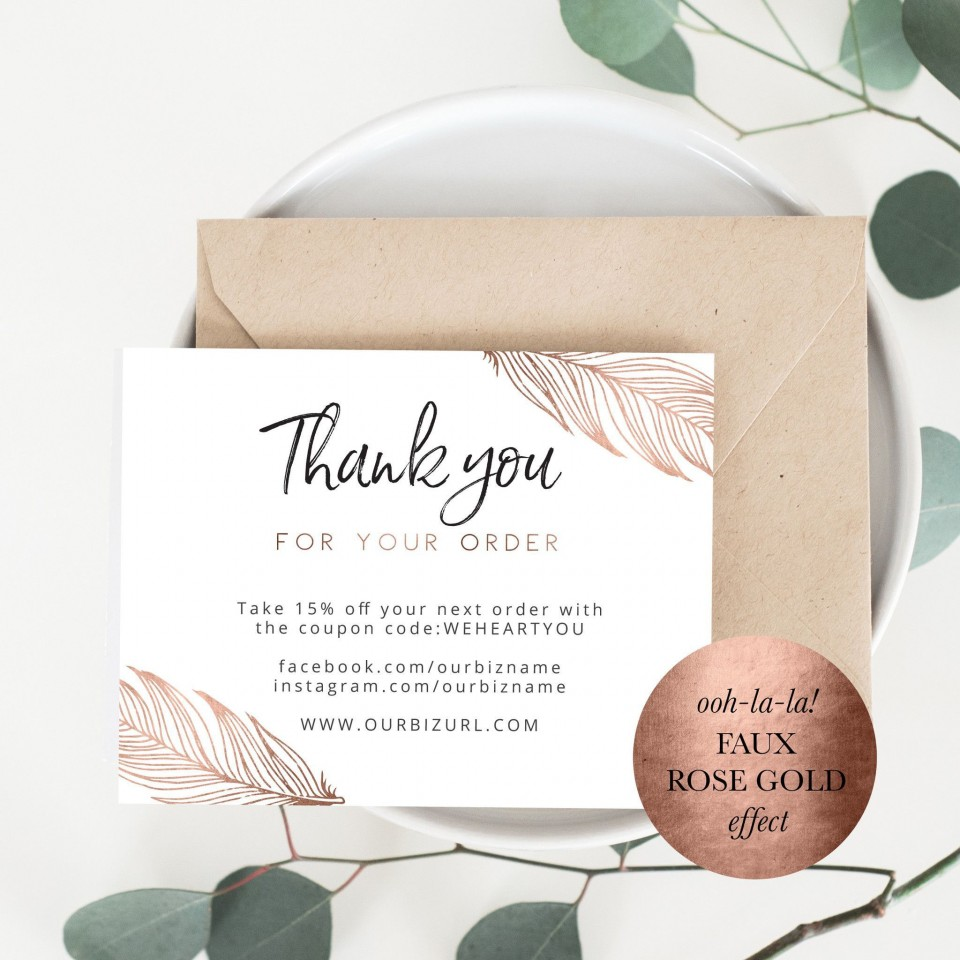 001 Dreaded Thank You Card Template High Resolution  Wedding Busines Word Free960