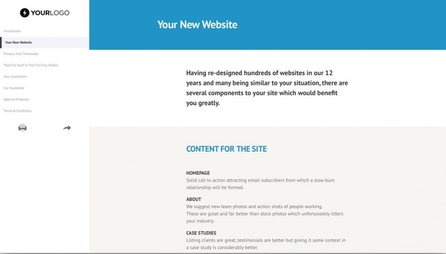 001 Dreaded Website Design Proposal Template  Web Pdf Redesign868