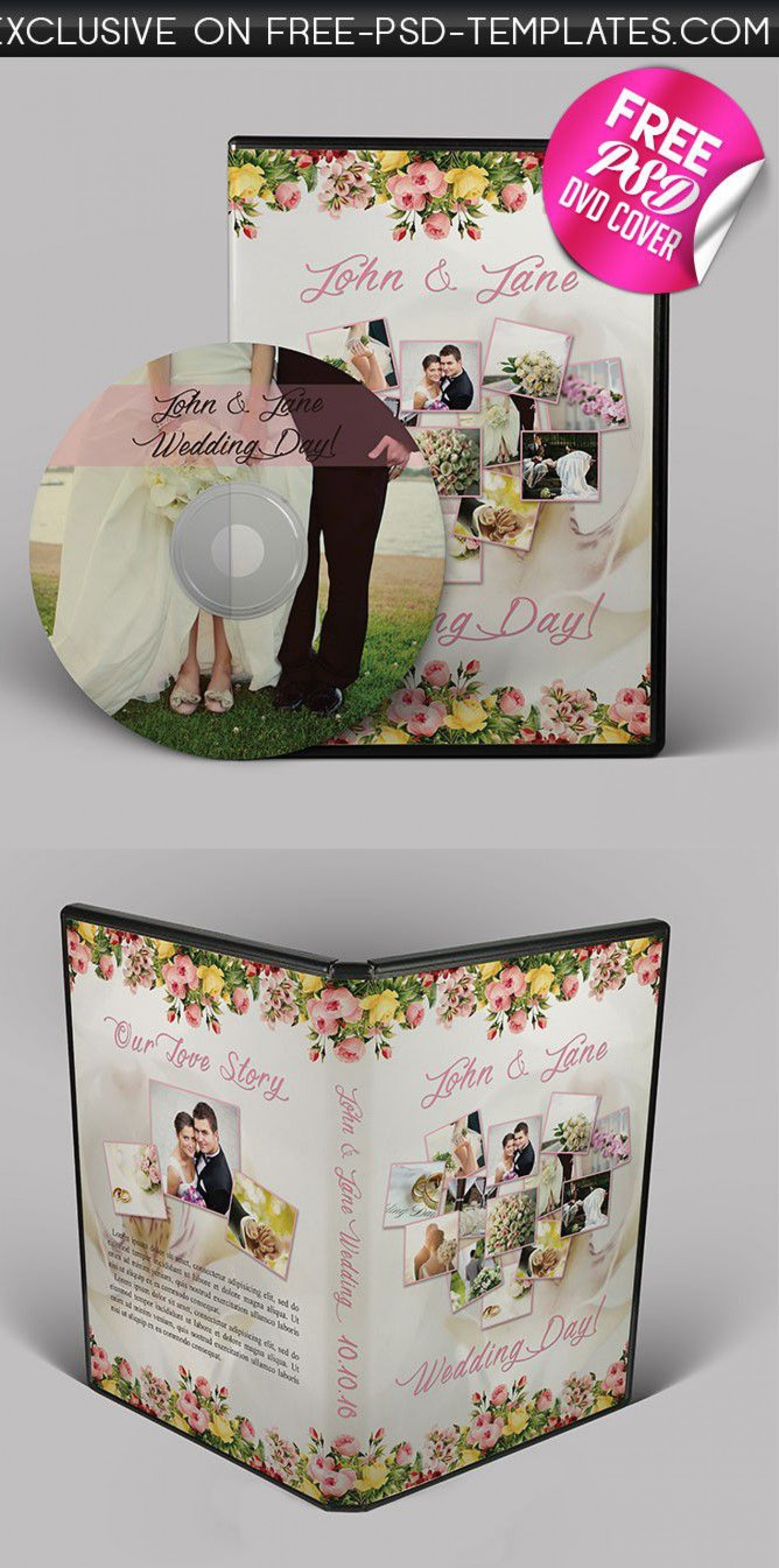 001 Dreaded Wedding Cd Cover Design Template Free Download High Definition 1400