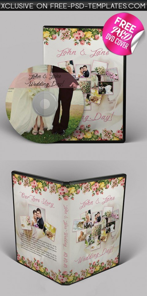 001 Dreaded Wedding Cd Cover Design Template Free Download High Definition 480