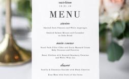 001 Dreaded Wedding Menu Card Template Word Highest Quality