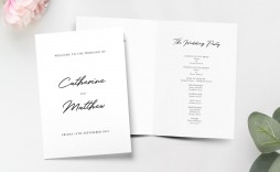 001 Dreaded Wedding Order Of Service Template Pdf Design