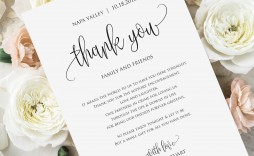 001 Dreaded Wedding Thank You Note Template Photo  Templates Shower Card Etsy Bridal Format