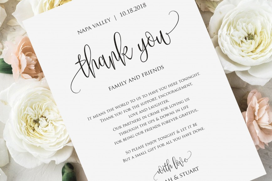 001 Dreaded Wedding Thank You Note Template Photo  Templates Card Etsy Bridal Shower Example