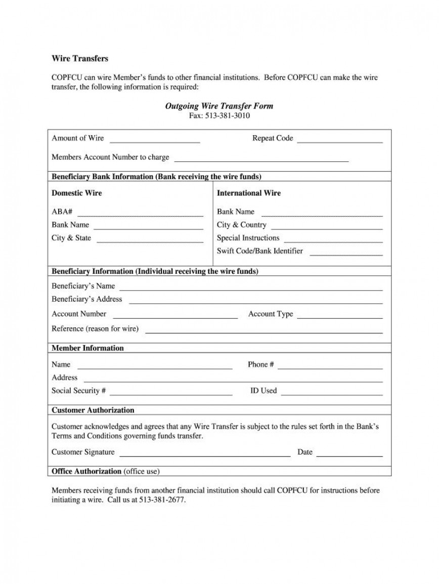 001 Dreaded Wire Transfer Instruction Template High Def  International