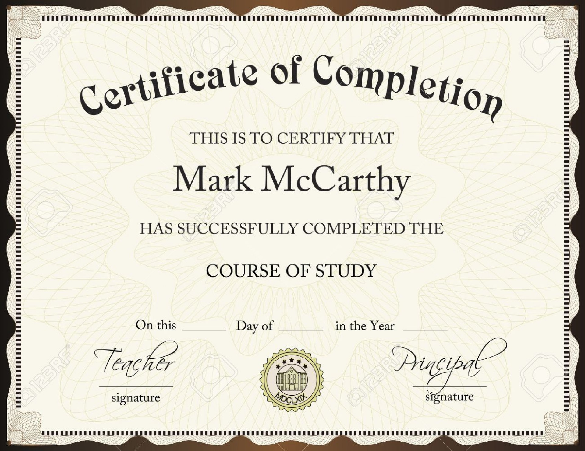 001 Excellent Certificate Of Completion Template Free Sample  Training Download Word1920