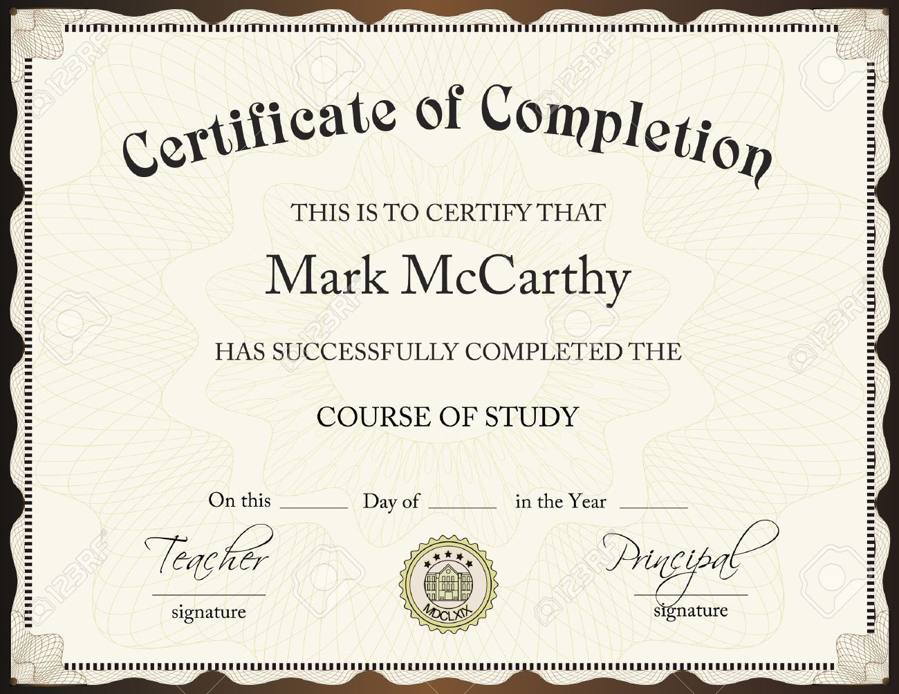 001 Excellent Certificate Of Completion Template Free Sample  Training Download WordFull