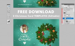 001 Excellent Christma Card Template Photoshop Picture  Free Download Funny