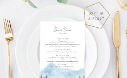 001 Excellent Dinner Party Menu Template Sample  Card Free Italian Word