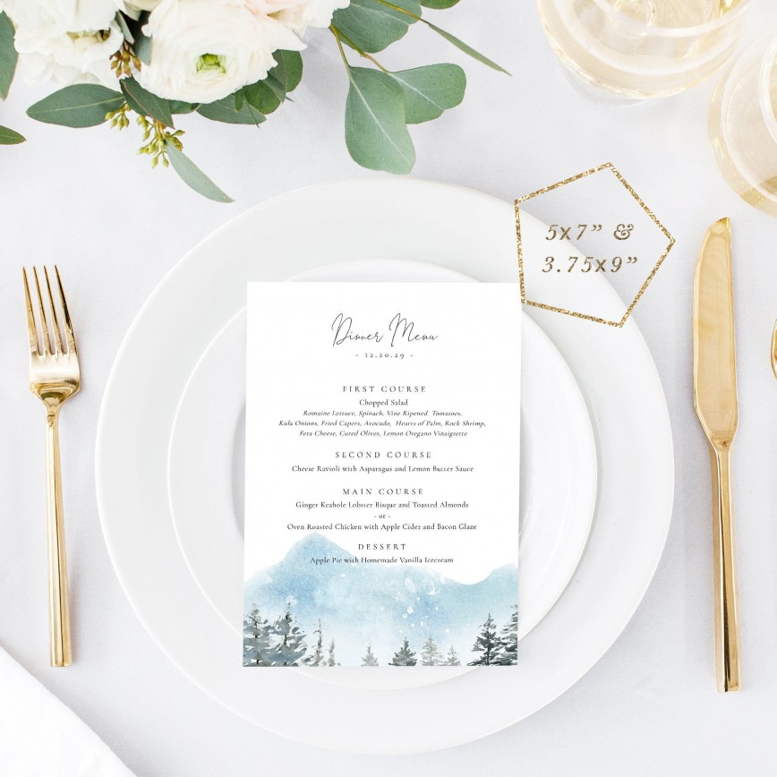 001 Excellent Dinner Party Menu Template Sample  Card Free Italian