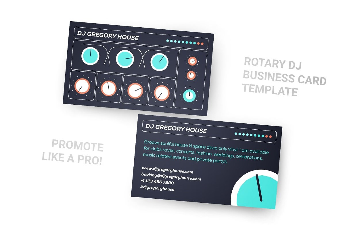 001 Excellent Dj Busines Card Template High Resolution  Psd Free DownloadFull