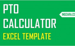 001 Excellent Excel Pto Tracker Template Highest Quality  Employee Vacation Spreadsheet 2019 Free