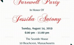 001 Excellent Farewell Party Invitation Template Free Photo  Email Printable Word