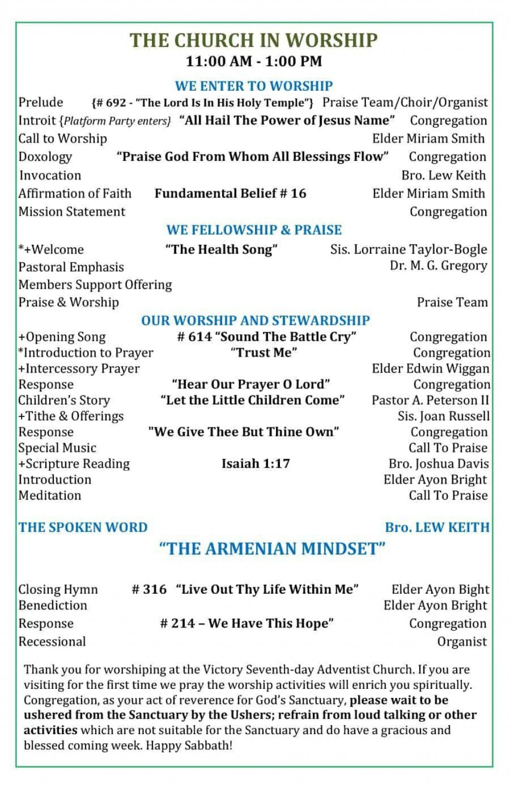 001 Excellent Free Church Program Template Download Concept  DownloadsLarge