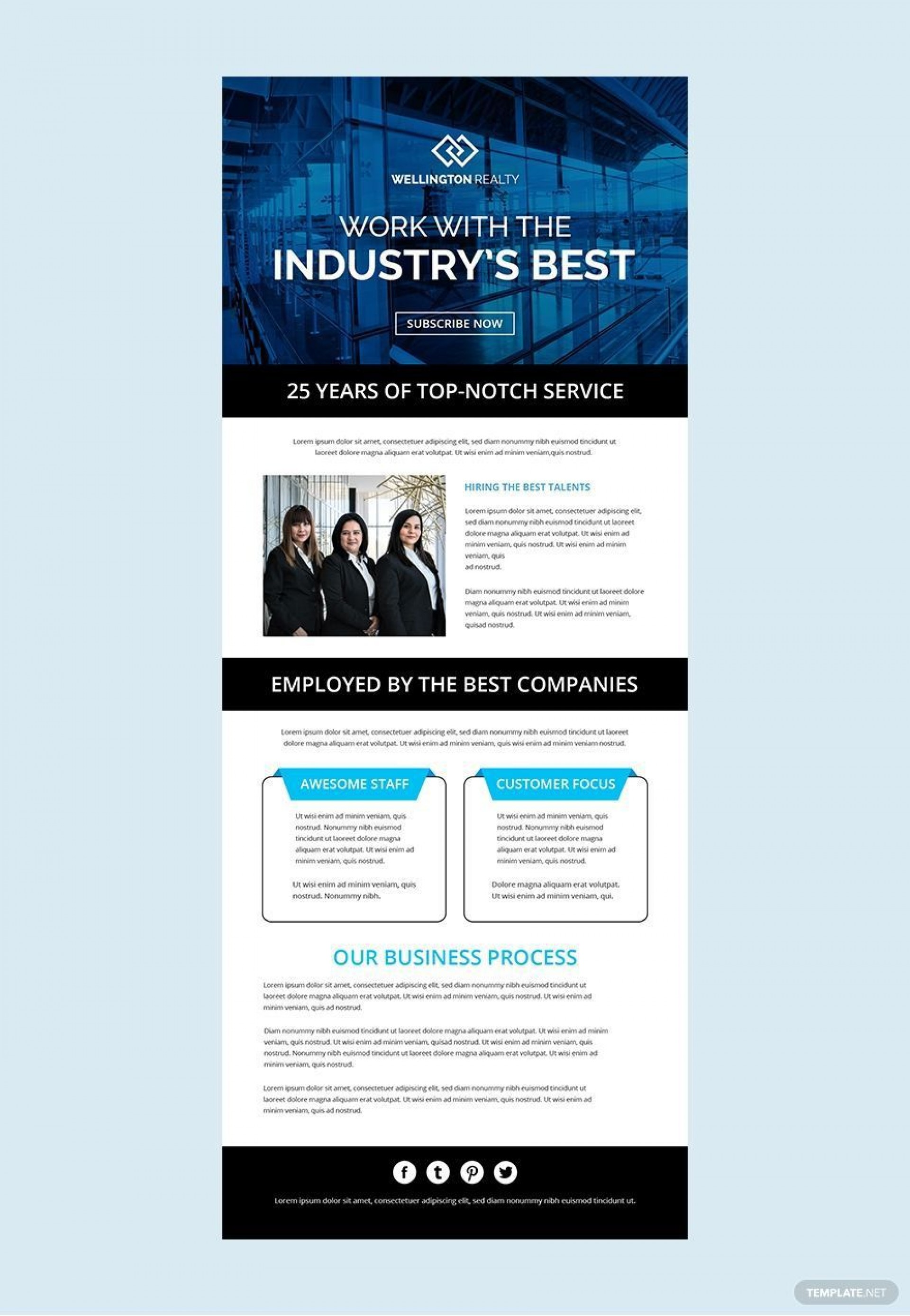 001 Excellent Free Email Newsletter Template Download Inspiration  Busines Psd1920