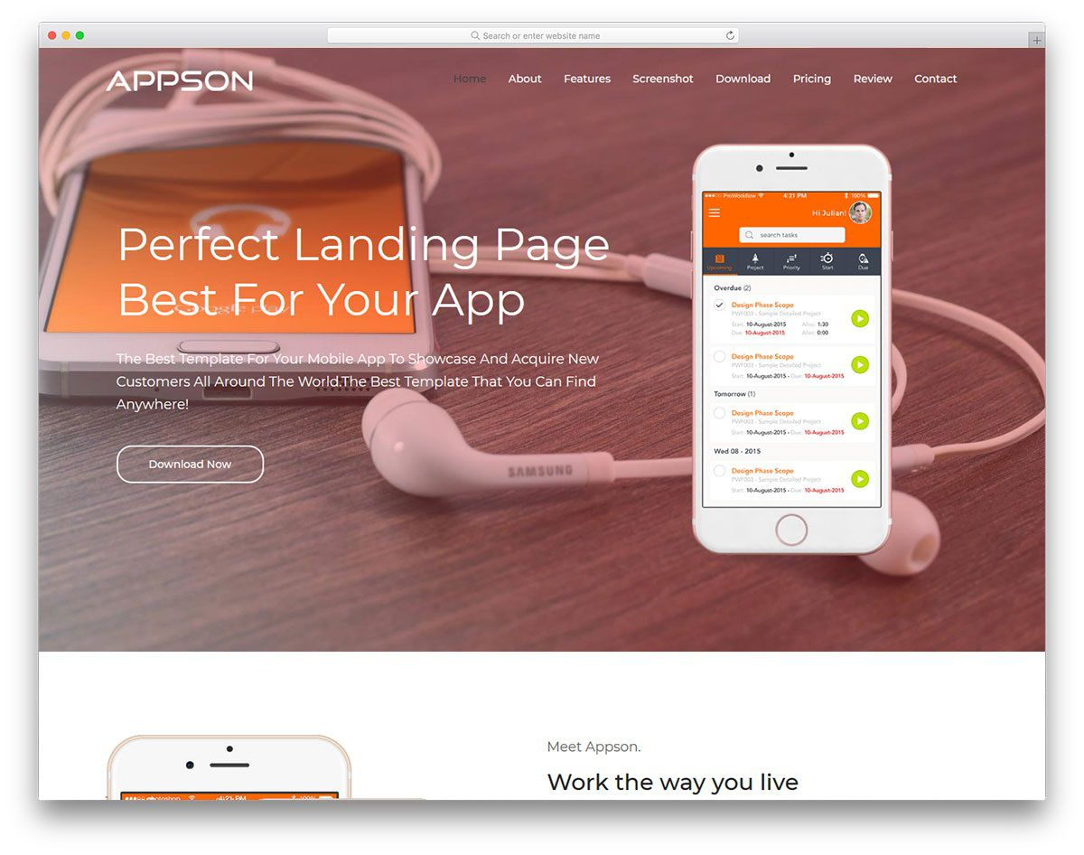 001 Excellent Free Mobile Website Template Highest Quality  Templates Phone Download Responsive FriendlyFull